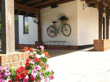 Bike parking at The Chequers Fowlmere
