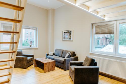 Familienzimmer-Apartment-Eigenes Badezimmer-Blick auf den Hof - MyWeb