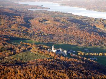 Vue du Lac Memprhrémagog en automne