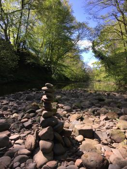 Broomhills Farm River Eco Pods - River Lyne access