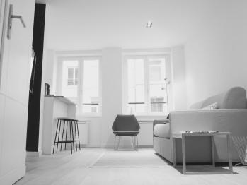 Séjour meublé de l'appartement
