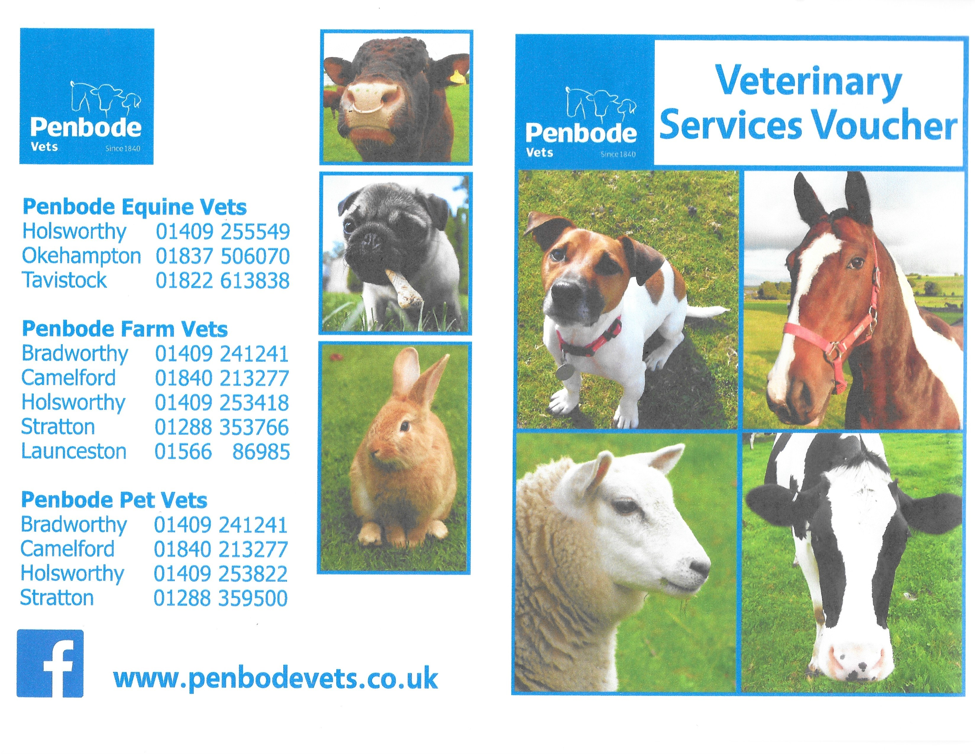 Prize Draw - Penbode Veterinary Clinic voucher