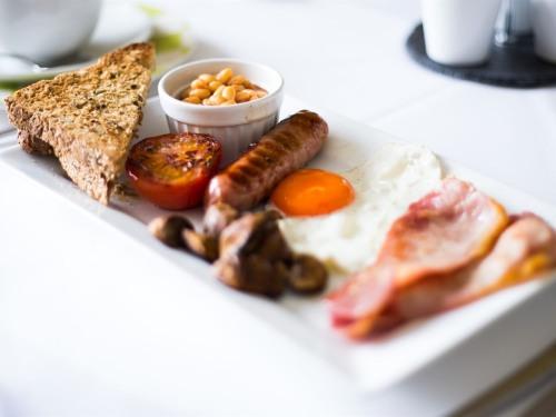 Full Cornish breakfast, freshly cooked to order