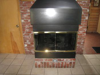 "ALL cabins have a ""GAS fireplace""."