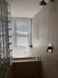 """Captain's Quarters """"Peek-a-boo"""" Shower with Jacuzzi"""