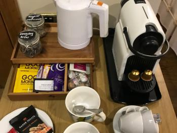 Tea & Coffee making facilities - Including Nespresso machine, hot chocolate, squash stick, fresh milk, fresh fruit and homemade biscuits.