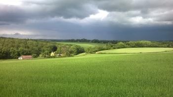 Moving Skies across the farmland