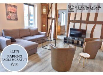 Un Appart A Rouen - Appartement spacieux et agréable pour 7 personnes, 4 lits, parking facile