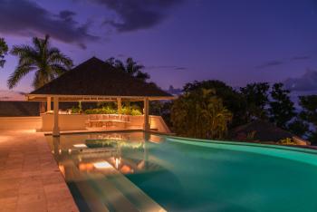 Main Pool & Bar - Night