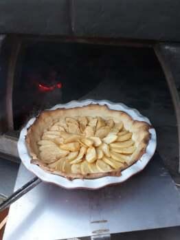 tarte au feu de bois