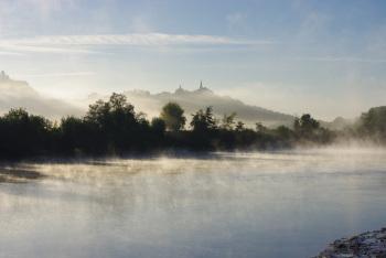 Aube sur la Garonne