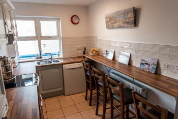 Guest kitchen at Seawinds B&B