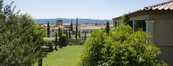 jardin et vue sur le village
