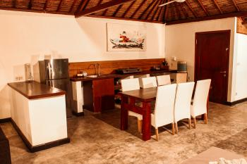 Kitchen and living area in the 2 bedrooms villa