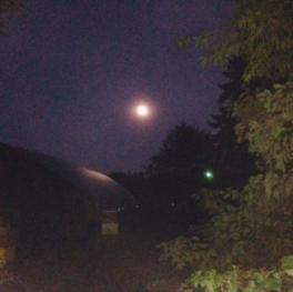 Full Moon over the farm