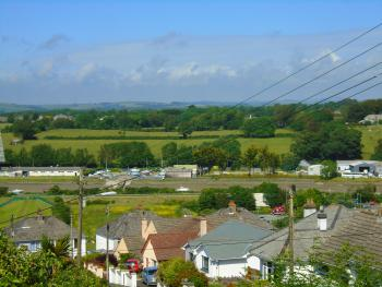 View from the Polzeath room balcony looking towards the Camel Trail