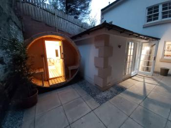 Patio and Sauna