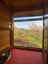 Small Yurt ~ Kitchen beautiful view