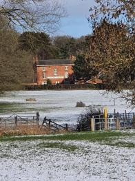 Cheney Arms, view from the field