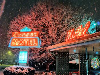 Winter at The Sunset Motel