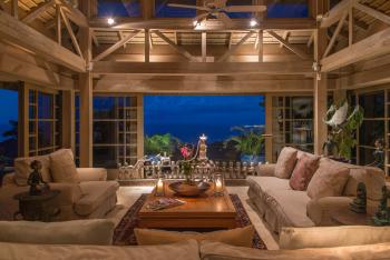 Master Villa Living Room at Night