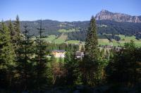View from the hiking trail to the Landhaus Wiesle