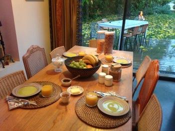 Petits déjeuners de la Maison d'hôtes Artist'au Chat