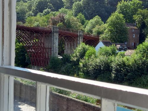 Stunning view of the 1st Iron Bridge in the world from the lounge