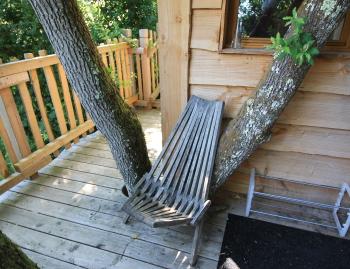Terrasse cabane du chêne