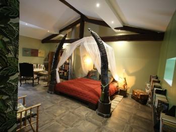 Chambre Linvingstone château des Périchons