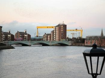 Titanic H & W Cranes & River Lagan