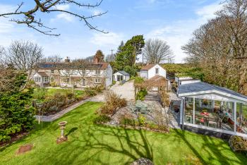 Aerial View of Tresowes Green Cottage