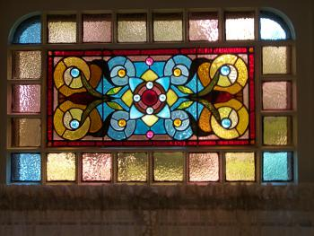 1 of 5 stained glass windows