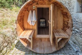 Sauna accessible aux Gîtes Artist'au Chat et l'Atelier