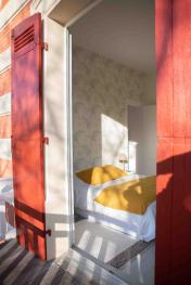 la chambre Mimosa depuis son balcon