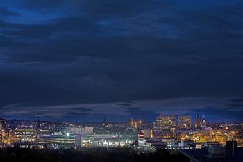 Aberdeen city night scape - many restaurants to enjoy in close by city centre