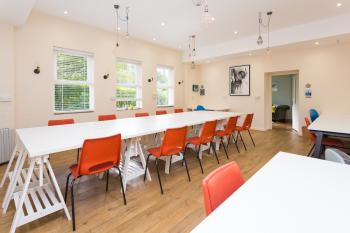 The studio space - with flexible tables & chairs