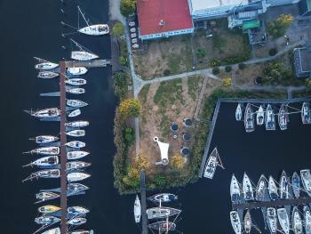 Umgebung am Yachthafen Greifswald