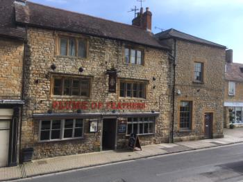 The Plume of Feathers - front of Pub