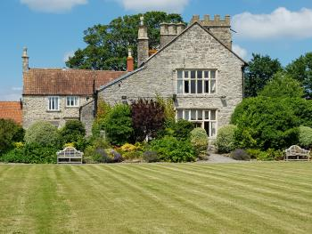 Old Church Farm - View of the South elevation from the croquet lawn