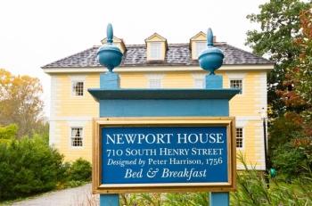 Newport House street sign