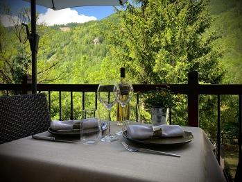 Un repas sur la terrasse...