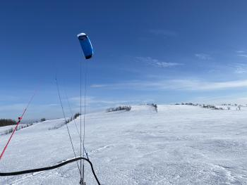 Snowkiten perfekte Bedingungen