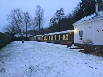 The station in the snow