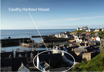 Location of Couthy Harbour House Findochy, 50m from Harbour with Thanks Visit Scotland & Paul Tomkins