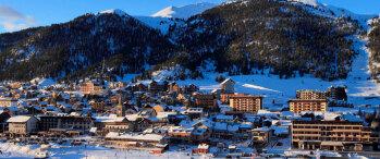 Le village de Montgenèvre en hiver