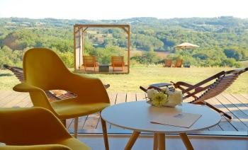 Villa Lascaux, garden view from suite 1