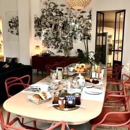 Table d'hôtes d'hiver et buffet bio