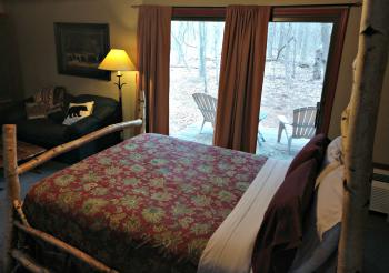 Birch Room #1 Bedroom w/View of Private Deck