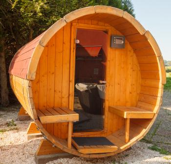 sauna dans le jardin